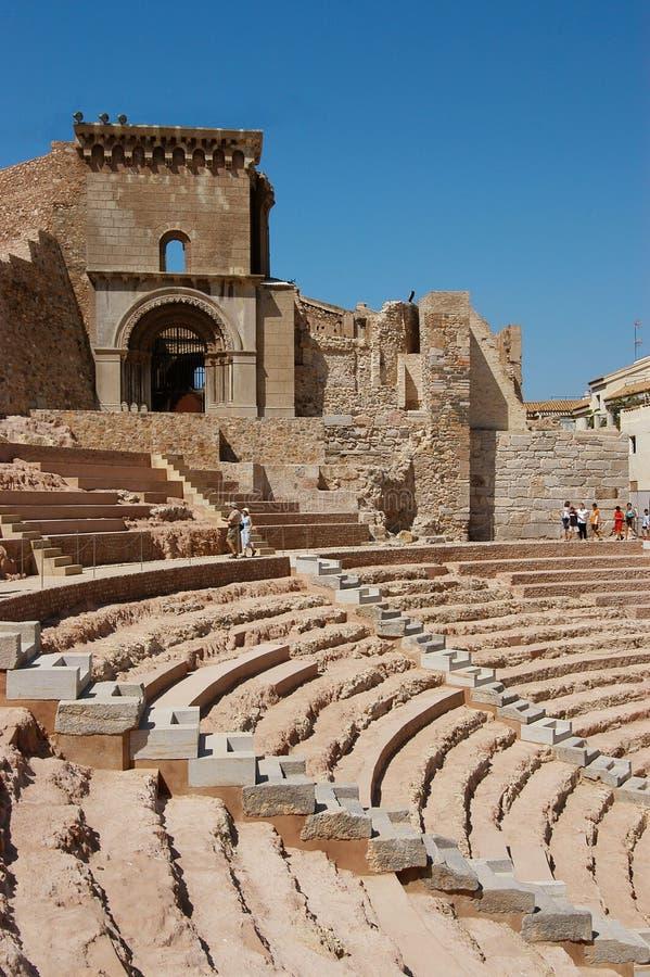 Roman Theater Cartagena Spain fotografia stock