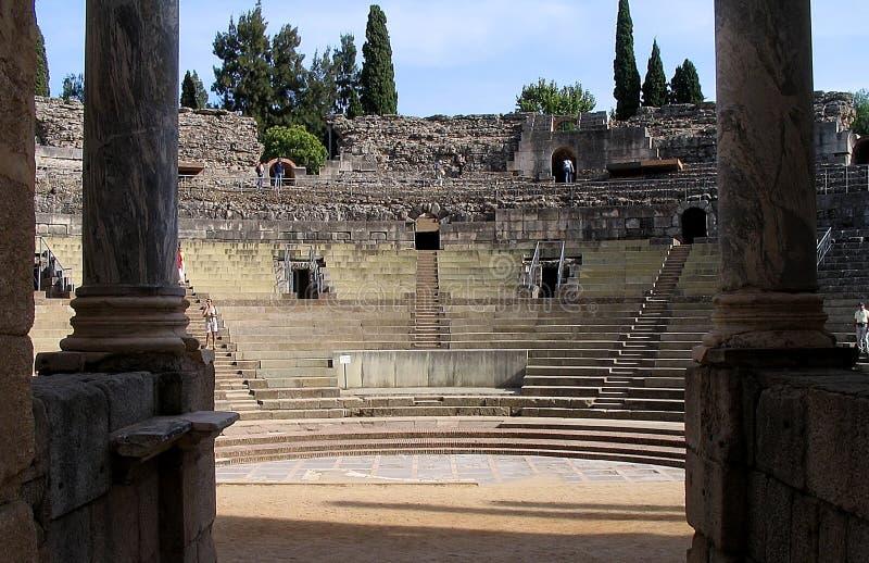 Roman Theater - Merida - Spanje royalty-vrije stock afbeeldingen