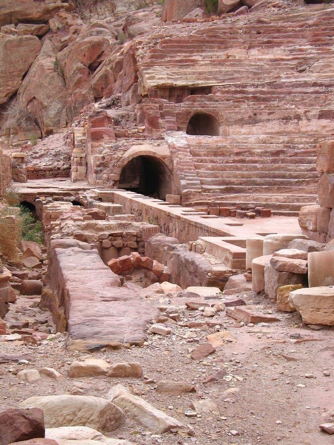 Roman Theater in Petra stock photo