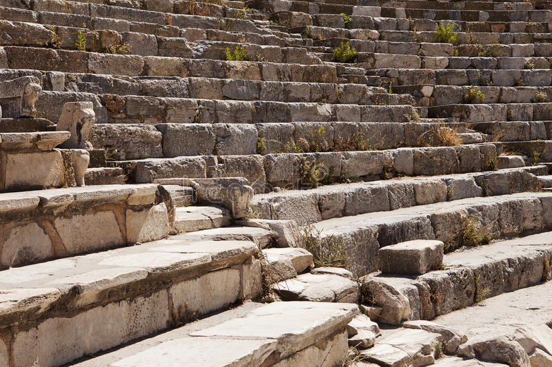 Roman Theater Seats Royalty Free Stock Images