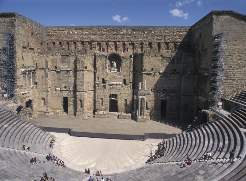 Roman theater, Sinaasappel, Frankrijk royalty-vrije stock afbeelding