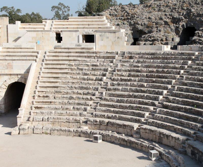 Roman Theater van Shean van Beit royalty-vrije stock afbeeldingen