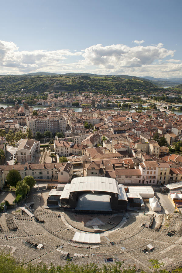 Roman Theater of Vienne stock photography