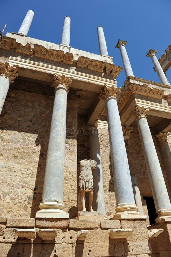 Roman Theater von Mérida, Extremadura Region, Spanien stockbilder