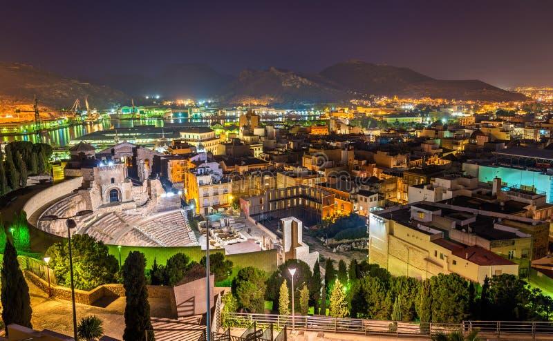 Roman Theatre à Carthagène, Espagne photographie stock libre de droits