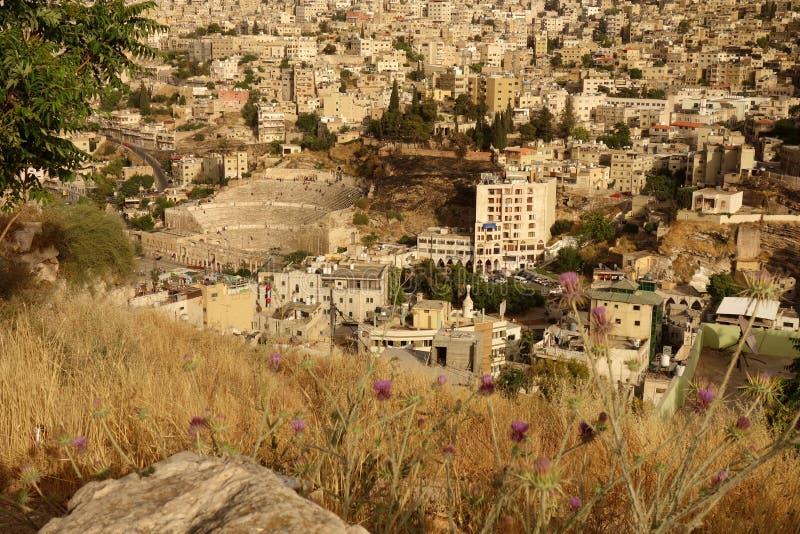 Roman Theatre a Amman immagine stock libera da diritti