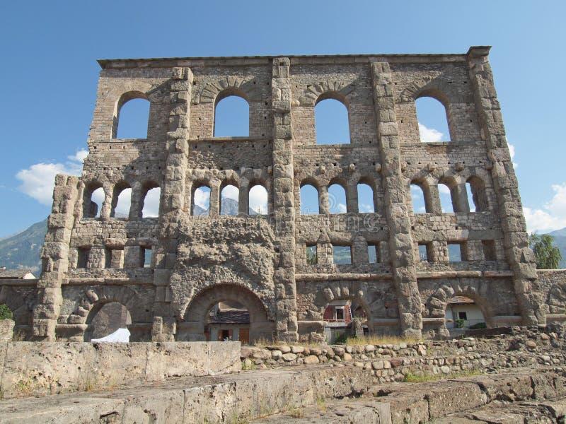 Download Roman Theatre Aosta stock photo. Image of ancient, roman - 25904828