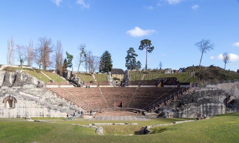 Roman Theatre Augusta Raurica immagini stock libere da diritti