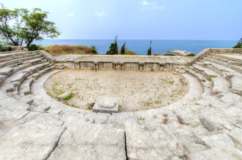 Roman Theatre, Byblos, der Libanon stockfotos