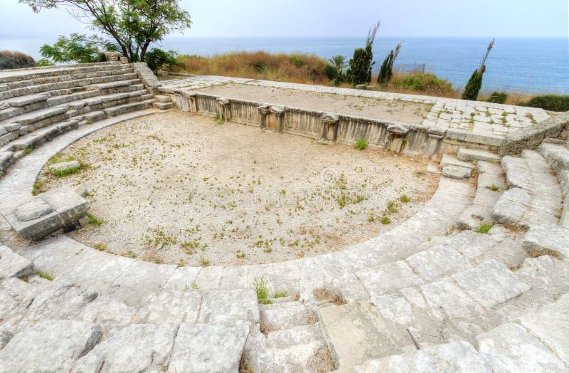 Roman Theatre, Byblos, Líbano imagens de stock