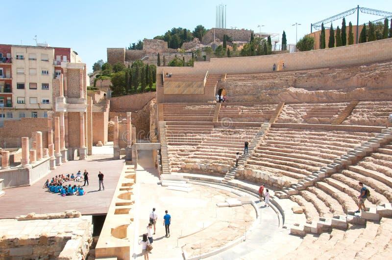 Roman Theatre, Cartagena fotos de stock royalty free