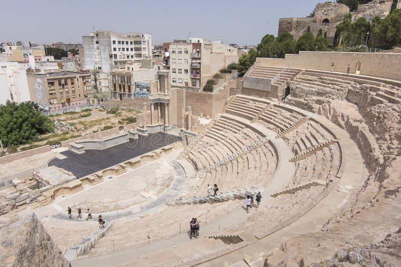 Roman Theatre Cartagena Southern Spain stock afbeelding