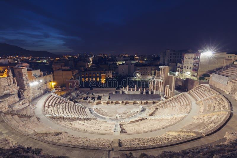 Roman Theatre a Cartagine fotografia stock