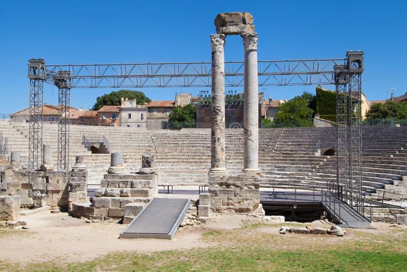 Roman Theatre de Arles imagem de stock