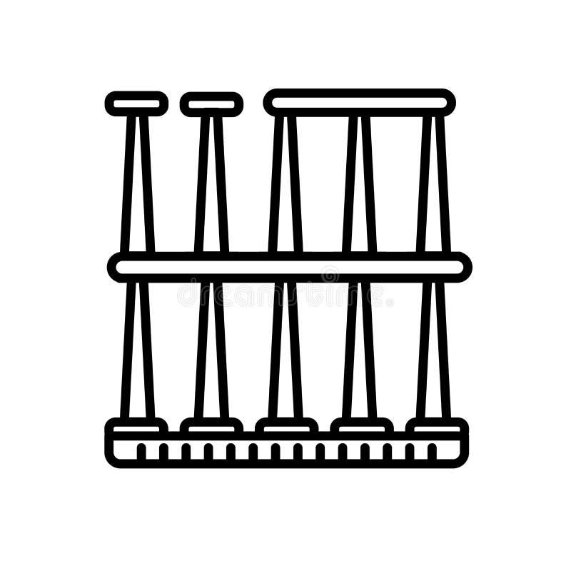 Roman Theatre de vecteur d'icône de Mérida d'isolement sur le fond blanc, Roman Theatre de signe de Mérida, de ligne ou de signe  illustration libre de droits