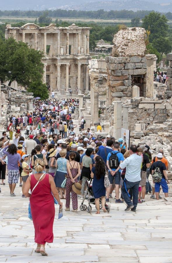 Roman Theatre en Ephesus en Turquía imagenes de archivo