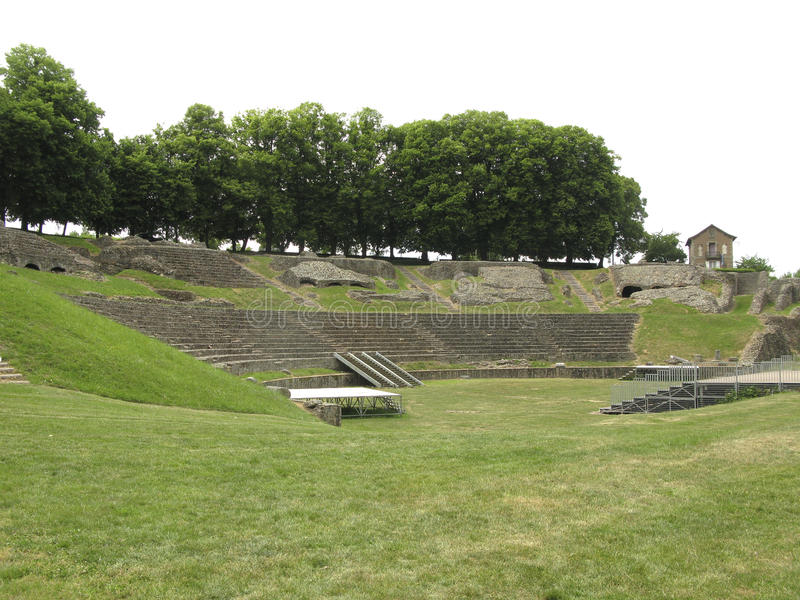 Download Roman theatre in France stock image. Image of famous - 19638391