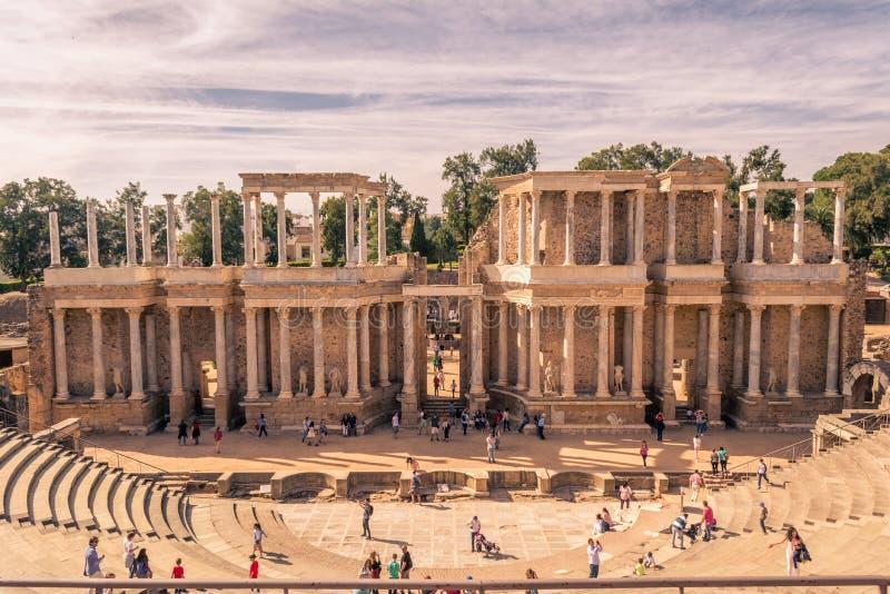 Roman Theatre Mérida royalty-vrije stock foto's