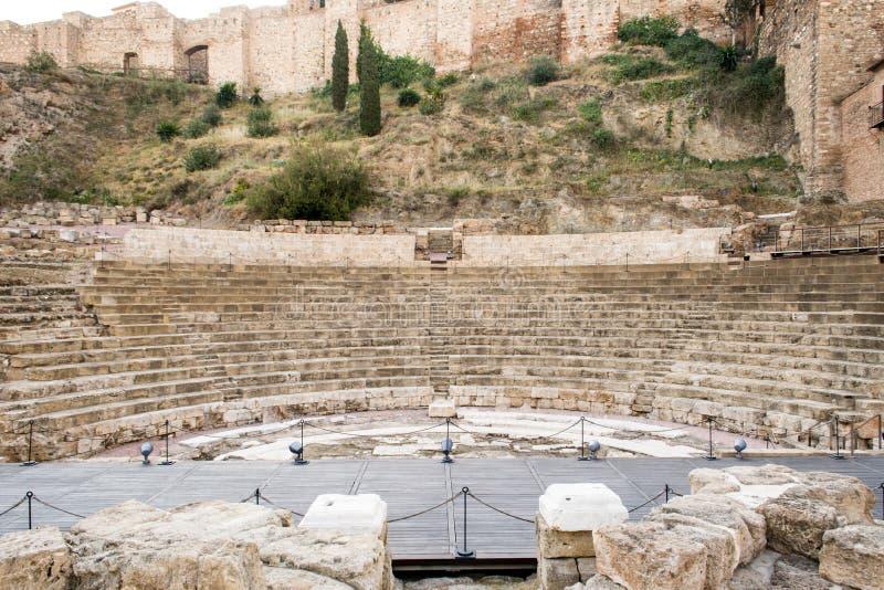 Roman Theatre Malaga stock afbeeldingen