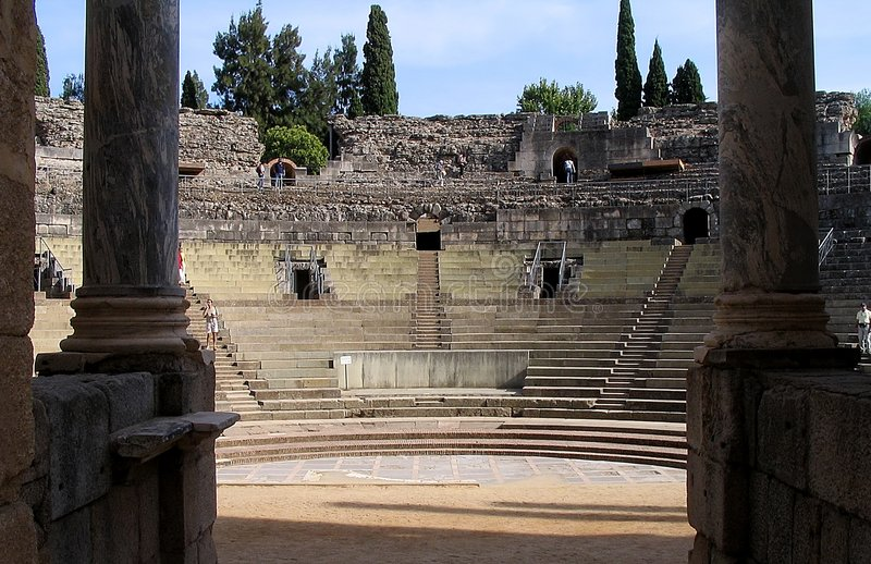 Roman Theatre - Merida - Spain Royalty Free Stock Images