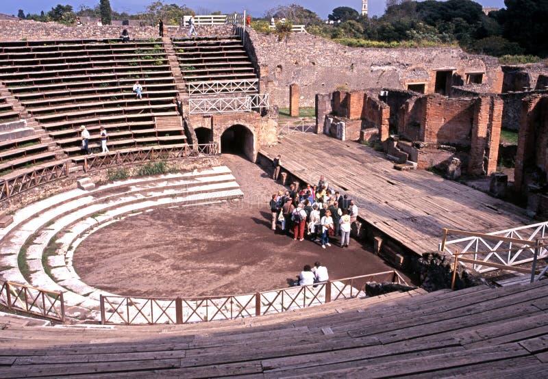 Roman Theatre, Pompeii. stock photography