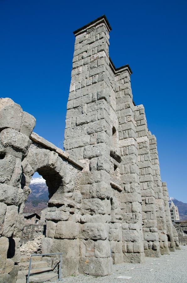 Roman Theatre von Aosta stockfoto