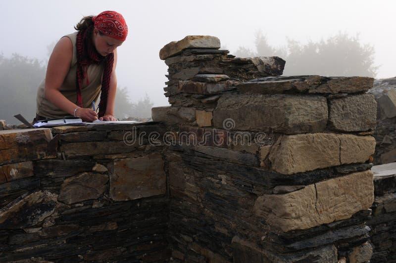 Roman thermisch bad. Asturias stock fotografie