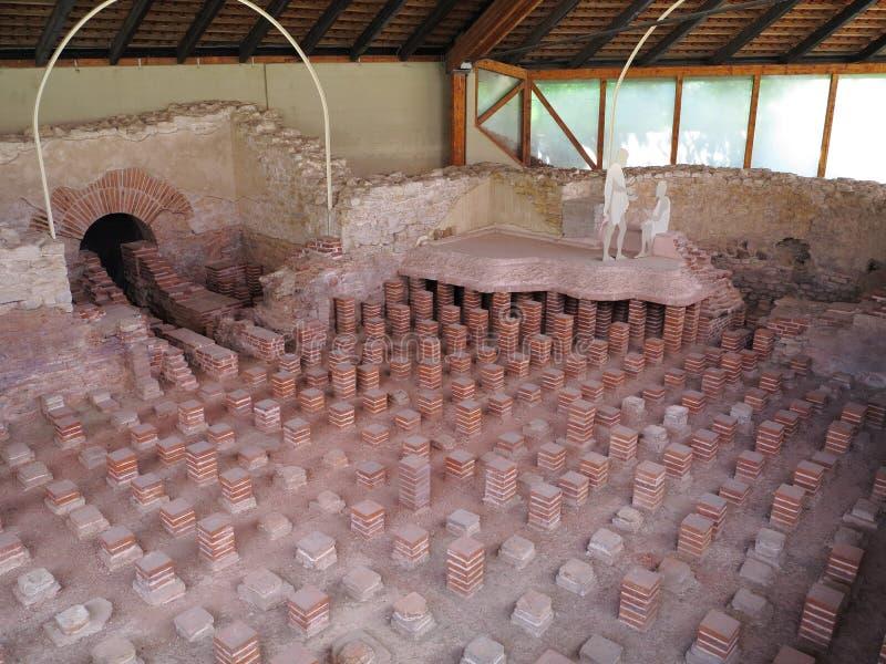 Roman thermisch bad Tepidarium stock foto's
