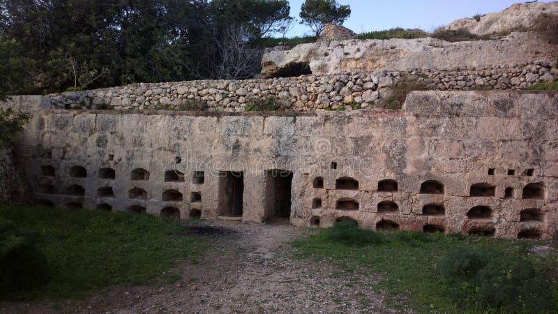 Roman thombs Xemxija stock photos