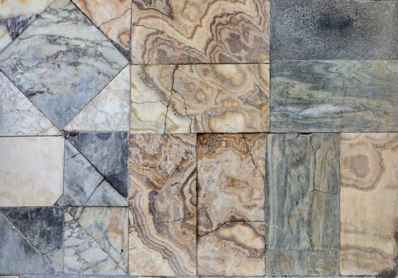 Roman tiled floor at Pompeii royalty free stock photo