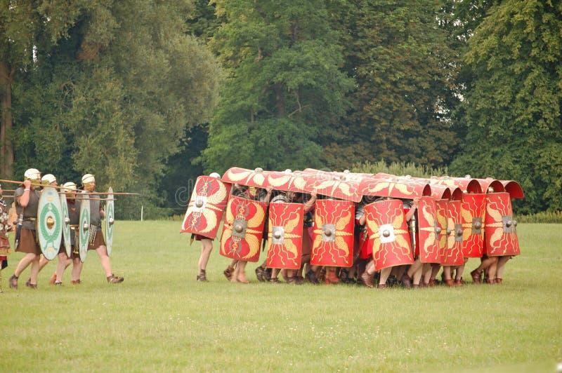 Roman Tortoise Tactic stock foto's