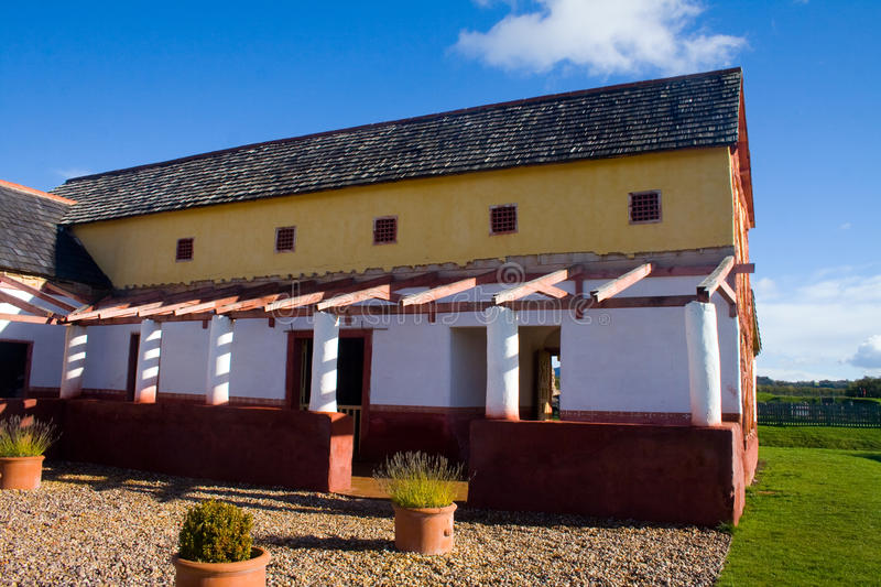 Roman Town House. Looking over towards a replica of a roman town house at Wroxeter royalty free stock images