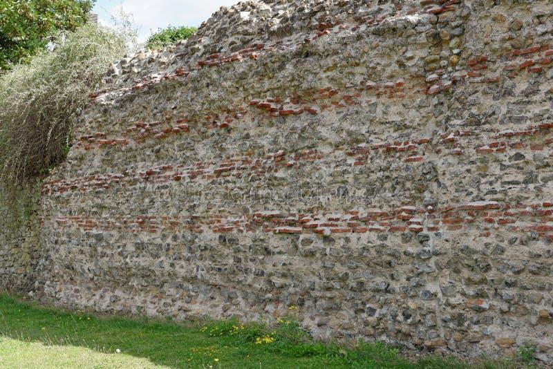 Roman Town Wall immagini stock libere da diritti