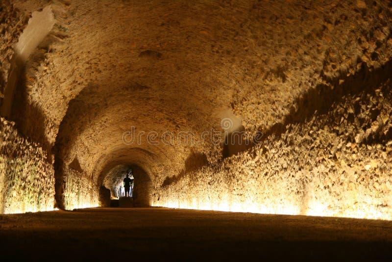 Roman Tunnel in Tarragona, Spain stock photography