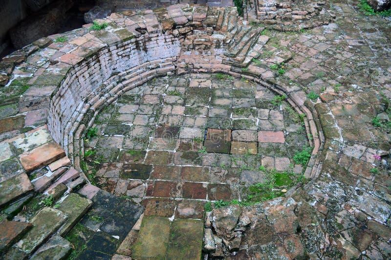 Roman Verona Ruins antico sulla via fotografie stock libere da diritti