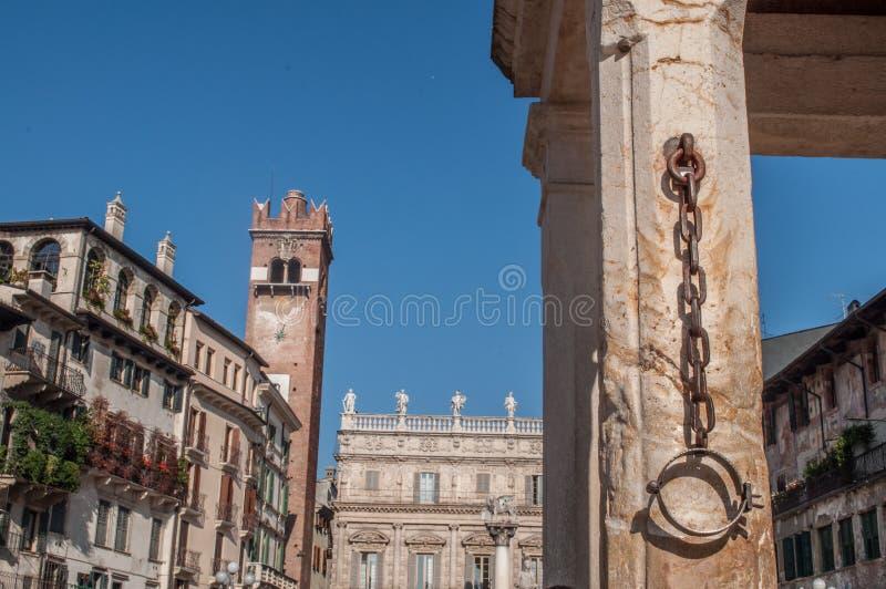 Roman vierkant in Verona Italy stock afbeeldingen