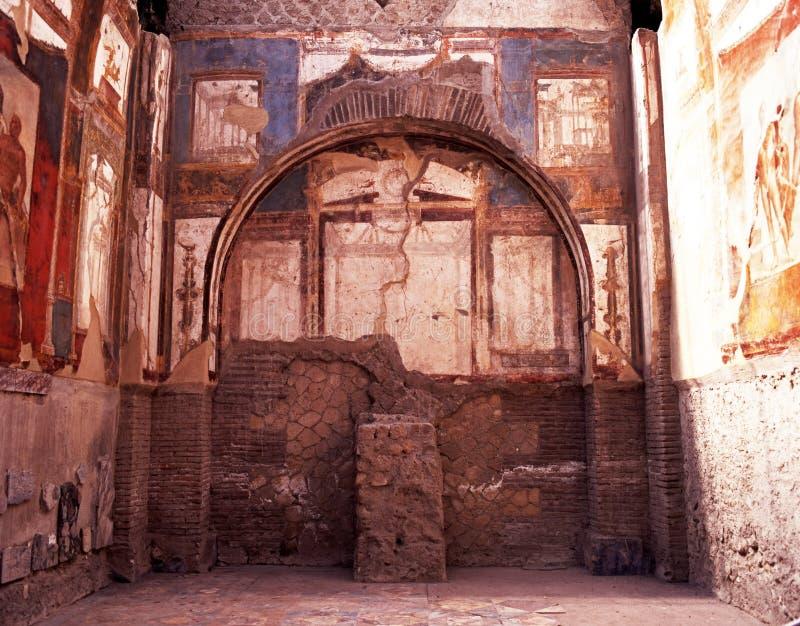 Roman Villa, Herculaneum, Italien. lizenzfreie stockfotos