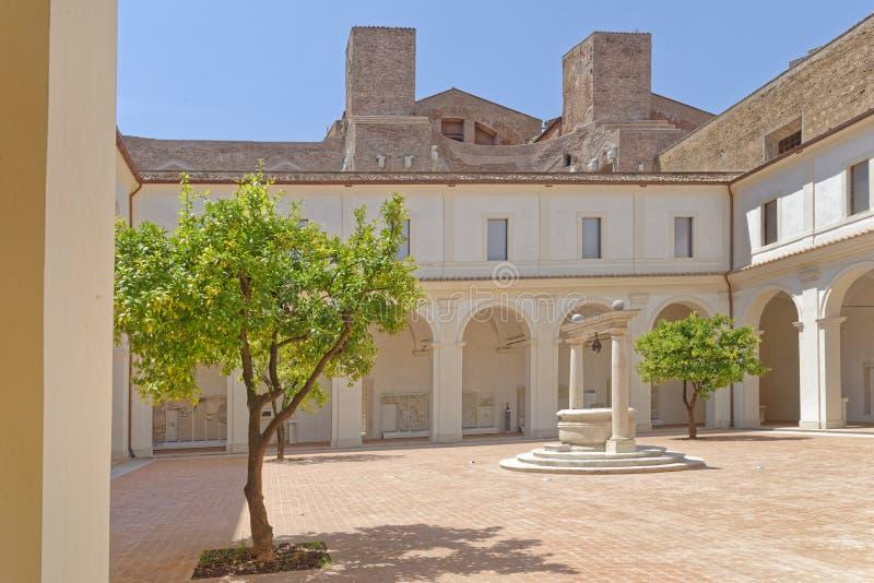 Roman villa inner courtyard stock photo