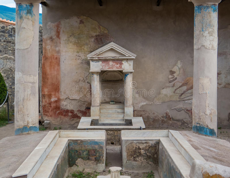 Roman Villa in Pompeii, Italy royalty free stock photo