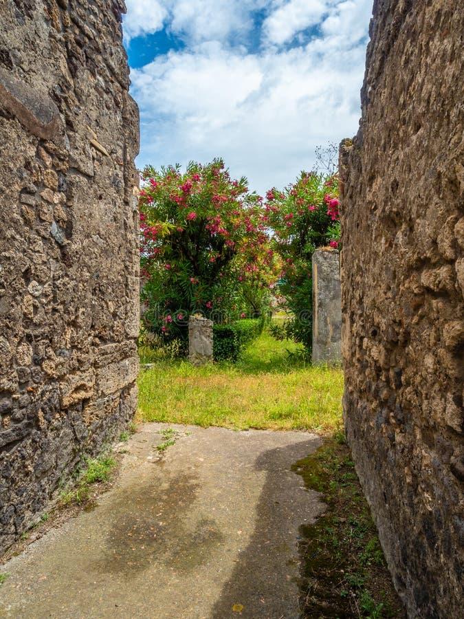Roman villa in Pompeii, Italy. World Heritage List. stock photos