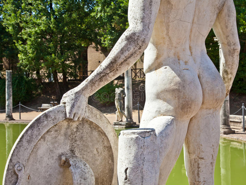 Roman villa - Tivoli stock images