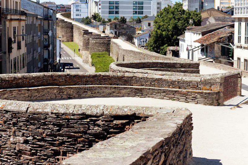 Roman wall of Lugo.Spain.  stock photo
