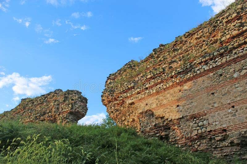 Roman walls Hisarya, Bulgaria royalty free stock photos