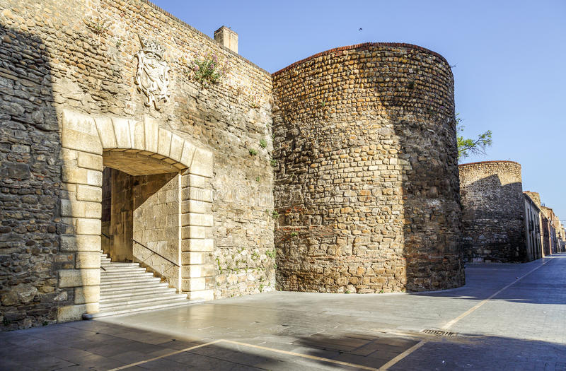 Roman walls of Leon royalty free stock photography