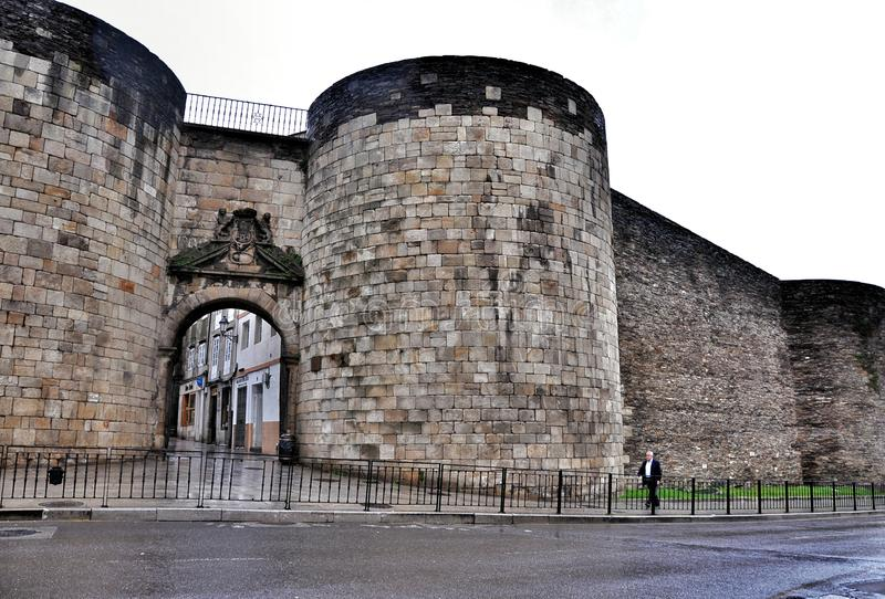 Roman Walls van Lugo royalty-vrije stock fotografie