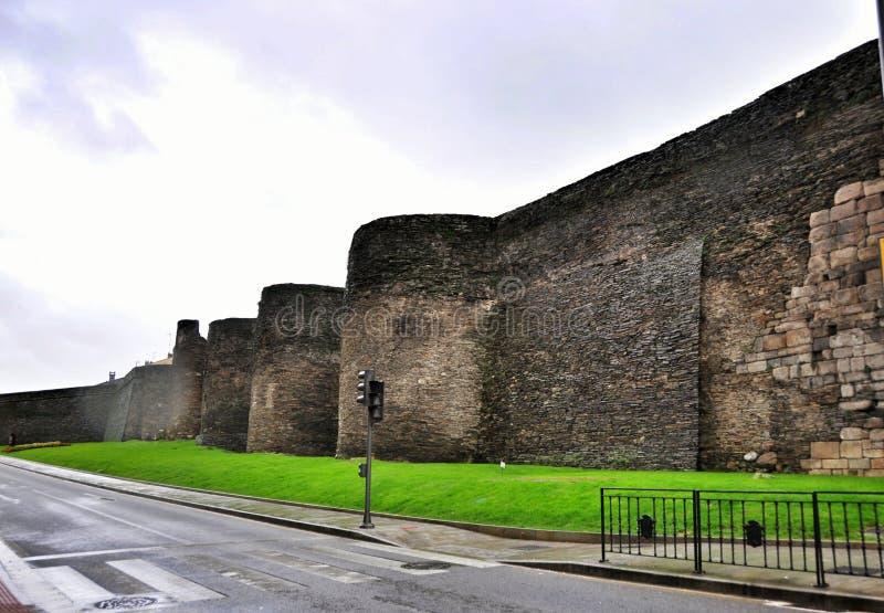 Roman Walls van Lugo royalty-vrije stock foto's