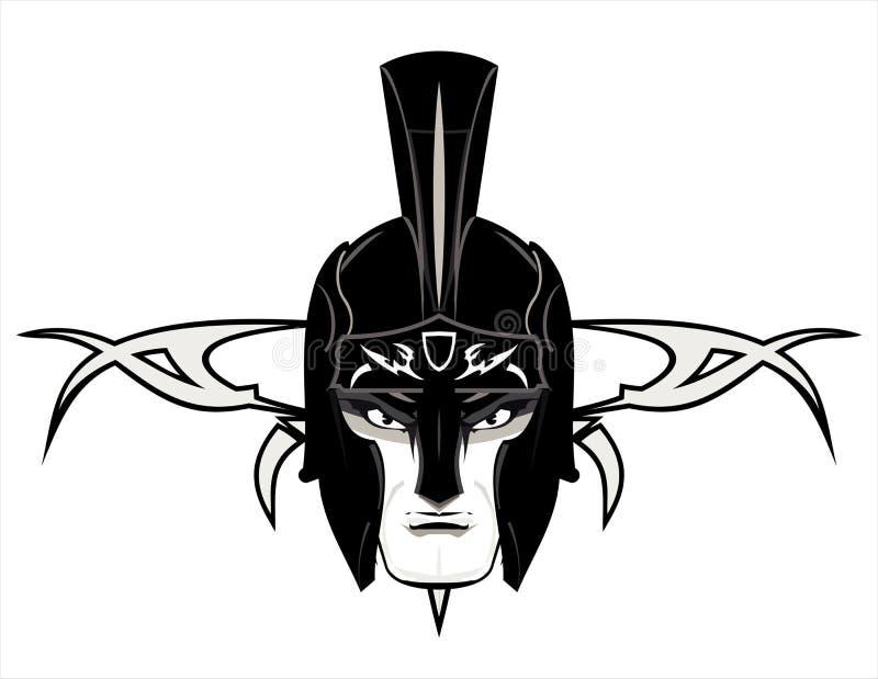 Roman Warrior Mascot Head royaltyfri illustrationer