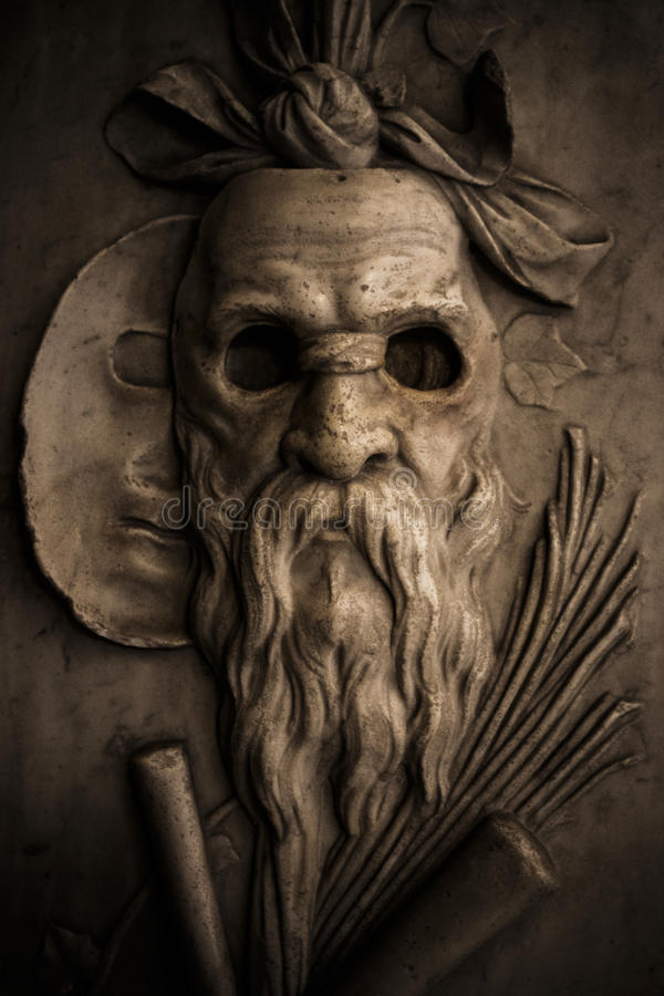 Roman Warrior Sculpture Mask photo stock