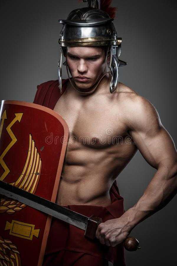 Free Roman Warrior With Sword. Royalty Free Stock Photo - 108112275