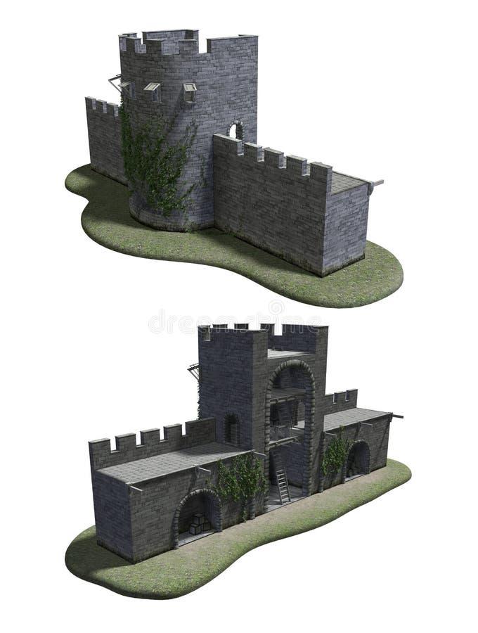 Roman Watchtower antique photos stock